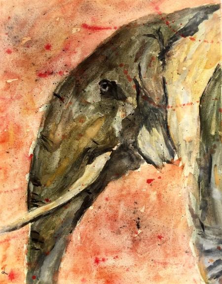 Watercolor elephant 11x14